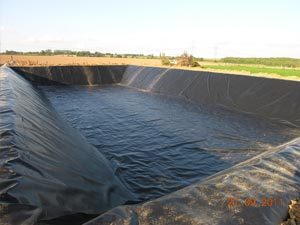 Geomembranes baches pour bassins pbe picardie baches for Bache pour bassin incendie